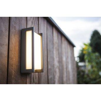 Lutec Qubo Zewnętrzny kinkiet LED Antracytowy, 1-punktowy