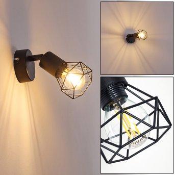 Baripada Lampa ścienna Czarny, 1-punktowy