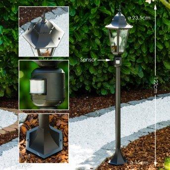 Bristol zewnętrzna lampa stojąca Czarny, 1-punktowy, Czujnik ruchu
