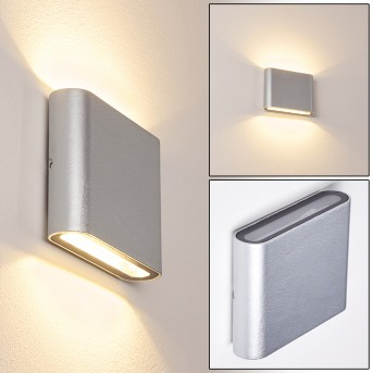 Tinglev Zewnętrzny kinkiet LED Srebrny, 2-punktowe