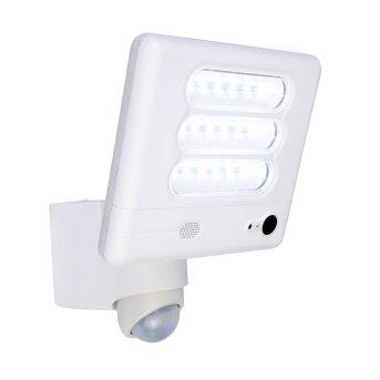 Lutec ESA lampa z kamerą LED Biały, 1-punktowy, Czujnik ruchu