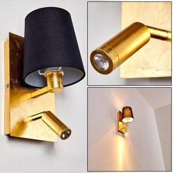 Kublis Lampa ścienna Złoty, 2-punktowe