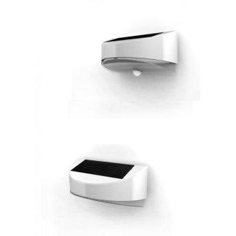 Lutec BREAD zewnętrzny kinkiet LED Srebrny, 1-punktowy, Czujnik ruchu