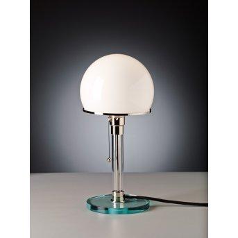 Tecnolumen Wagenfeld 24 Lampa stołowa Nikiel matowy, Przezroczysty, 1-punktowy