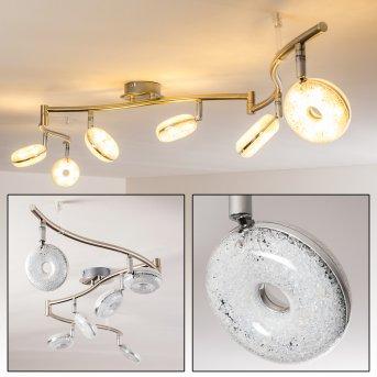 Donot Lampa Sufitowa LED Nikiel matowy, 6-punktowe
