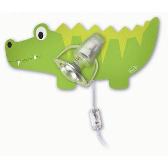 Waldi Krokodil lampa ścienna Zielony, 1-punktowy