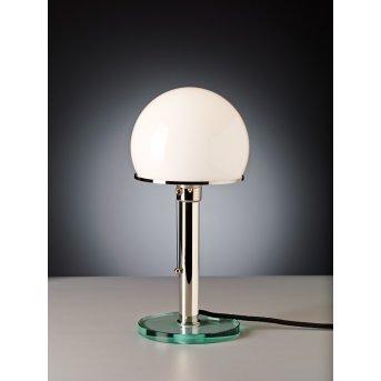 Tecnolumen Wagenfeld 25 Lampa stołowa Nikiel matowy, Przezroczysty, 1-punktowy