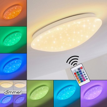 Norton Star Lampa Sufitowa LED Biały, 1-punktowy, Zdalne sterowanie, Zmieniacz kolorów