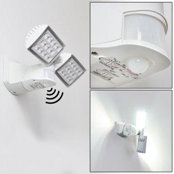 Loit Zewnętrzny kinkiet LED Biały, 2-punktowe, Czujnik ruchu
