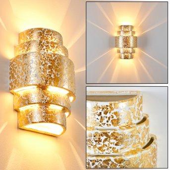 Handan Lampa ścienna Złoty, 1-punktowy