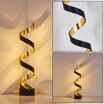 Rezat Lampa Stojąca LED Czarno-złoty, 1-punktowy