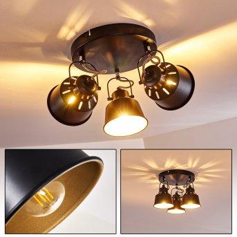Lampa Sufitowa Safari Czarny, 3-punktowe