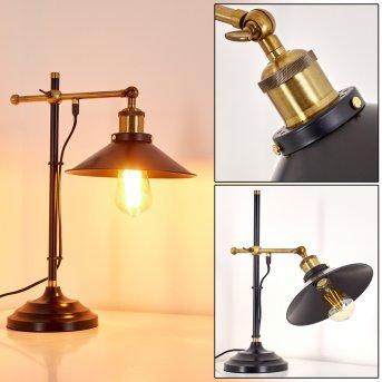 Gudem Lampa stołowa Czarno-złoty, 1-punktowy