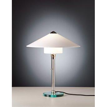 Tecnolumen Wagenfeld 27 Lampa stołowa Nikiel matowy, Przezroczysty, 1-punktowy
