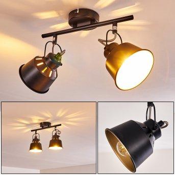 Safari Lampa Sufitowa Czarny, 2-punktowe