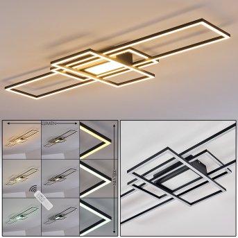 Alsterbro Lampa Sufitowa LED Czarny, 1-punktowy