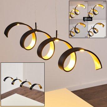 Rezat Lampa Wisząca LED Czarno-złoty, 1-punktowy