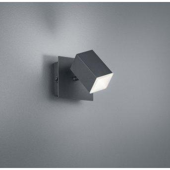 Trio LAGOS Lampa ścienna LED Czarny, 1-punktowy