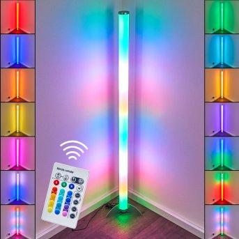 Globo ROCKY lampa stojąca LED Srebrny, 1-punktowy, Zdalne sterowanie, Zmieniacz kolorów