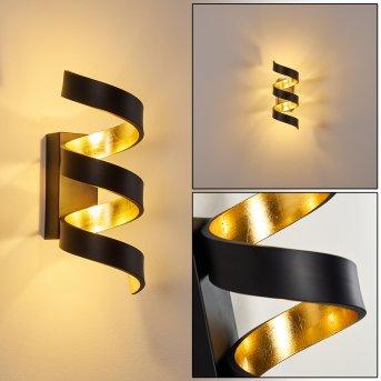 Rezat Lampa ścienna LED Czarno-złoty, 1-punktowy