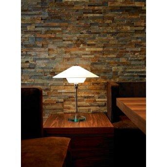 Tecnolumen Wagenfeld 28 Lampa stołowa Nikiel matowy, Przezroczysty, 1-punktowy