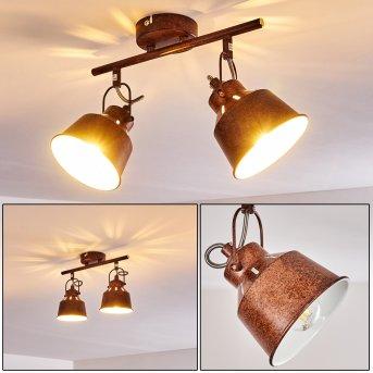 Safari Lampa Sufitowa Rudy, 2-punktowe