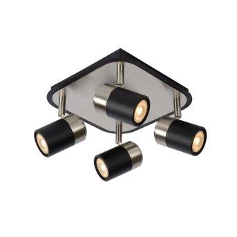 Lucide LENNERT Lampa Sufitowa LED Czarny, 4-punktowe