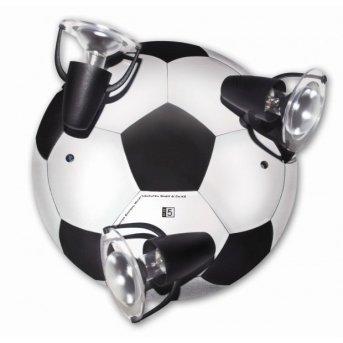 Waldi Fußball lampa sufitowa Niebeieski, 3-punktowe