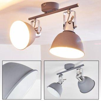 Dompierre Lampa Sufitowa Siwy, Biały, 2-punktowe