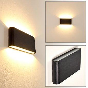 Marsh Zewnętrzny kinkiet LED Czarny, 2-punktowe