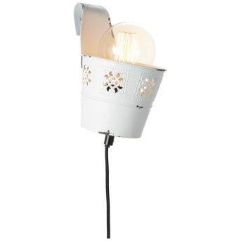 Brilliant Flower Ample Lampa ścienna Biały, 1-punktowy