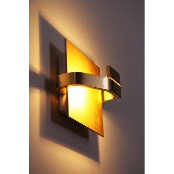 Elesi Luce lampa ścienna LED Złoty, 1-punktowy