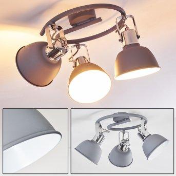 Dompierre Lampa Sufitowa Siwy, Biały, 3-punktowe