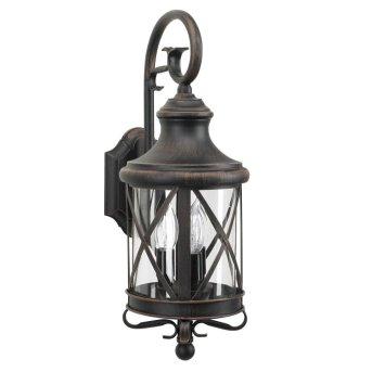 KS Verlichting Romantica Lampa ścienna Brązowy, 3-punktowe