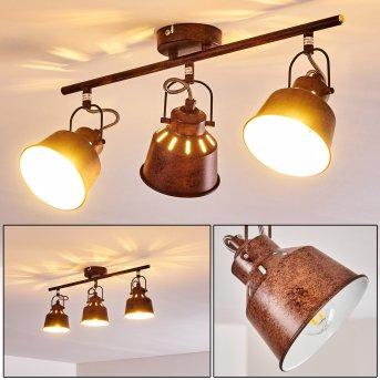 Safari Lampa Sufitowa Rudy, 3-punktowe