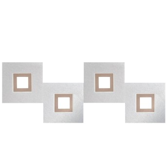 Grossmann KARREE Lampa Sufitowa LED Aluminium, Miedź, 4-punktowe