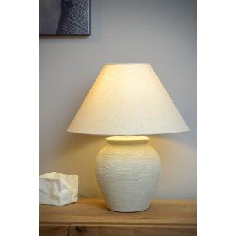 Lucide RAMZI Lampa stołowa Beżowy, 1-punktowy