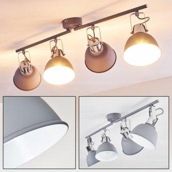 Dompierre Lampa Sufitowa Siwy, Biały, 4-punktowe