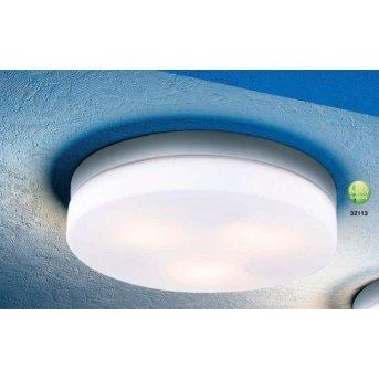 Globo VRANOS lampa sufitowa Srebrny, Stal nierdzewna, Biały, 3-punktowe