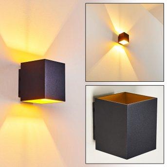 Laforsen Lampa ścienna Czarny, Złoty, 1-punktowy