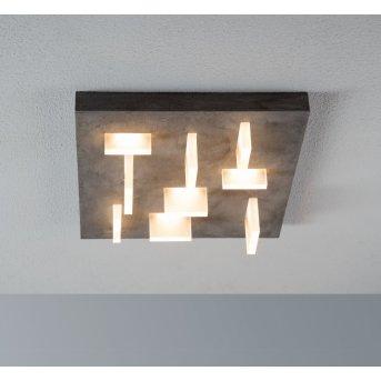 Escale Sharp Lampa Sufitowa LED Siwy, 9-punktowe