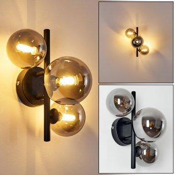 Chariton Lampa ścienna LED Czarny, 3-punktowe