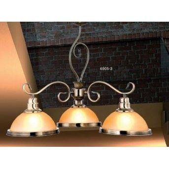 Globo SASSARI lampa wisząca Mosiądz, Złoty, 3-punktowe
