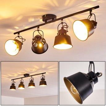 Safari Lampa Sufitowa Czarny, 4-punktowe