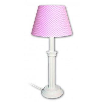 Waldi Vichy lampa stołowa Biały, 1-punktowy