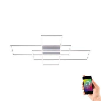 Paul Neuhaus Q-INIGO Lampa Sufitowa LED Nikiel matowy, 3-punktowe, Zdalne sterowanie