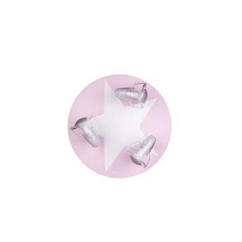 Waldi Wimbel Lampa Sufitowa Biały, Różowy, 3-punktowe