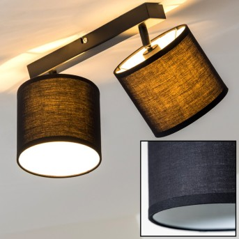 Brilliant Sandra lampy sufitowe listwy Czarny, 2-punktowe