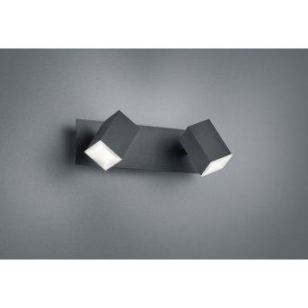 Trio LAGOS Lampa ścienna LED Czarny, 2-punktowe