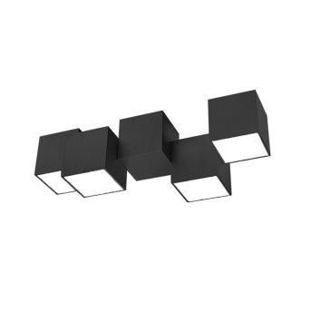 Grossmann ROCKS Lampa Sufitowa LED Czarny, 4-punktowe